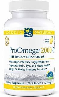 Nordic Naturals Proomega 2000-D - Fish Oil, 1125 Mg Epa, 875 Mg Dha, 1000 Iu Vitamin D3, 60 Count