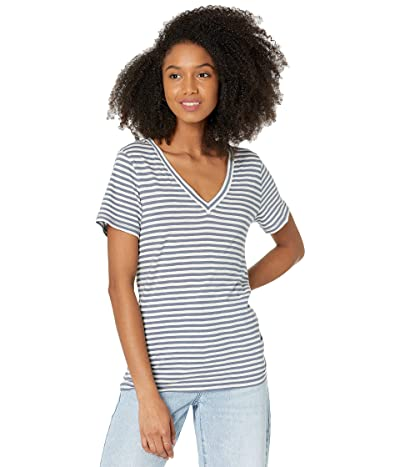 Madewell Whisper Cotton V-Neck Tee in Tierney Stripe