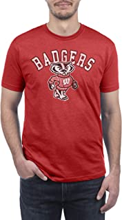 Top of the World NCAA Mens Modern Fit Premium Dual Blend Short Sleeve Team Color Distressed Mascot Tee