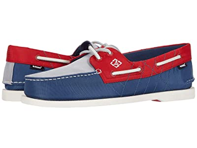 Sperry A/O 2-Eye Bionic (Navy/Red/Grey) Men