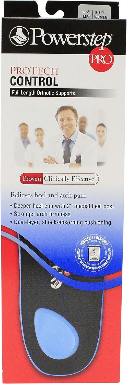 Powerstep Popular popular Protech Control Limited price sale Pro Insoles Men Women 8-8.5 6-6.5