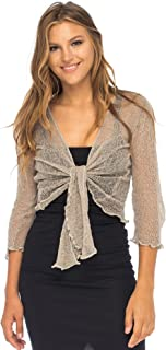 Womens Sheer Shrug Cardigan Lightweight Knit