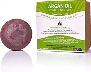 Conditioner Bar for All Hair Types - Perfect Travel Bar Conditioner for Hair - Vegan Solid Conditioner Bar for Full and Frizz Free Hair by Clever Yoga (Argan Oil 1bar)