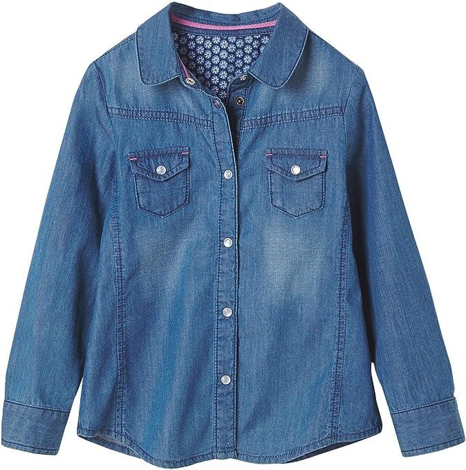 VERTBAUDET Camisa Vaquera niña Azul Oscuro Liso 5A ...