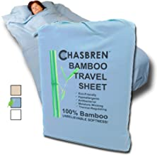 Chasbren Travel Sheet - 100% Bamboo Travel Bedding for Hotel Stays and Other Travels - Soft Comfortable Roomy Lightweight ...