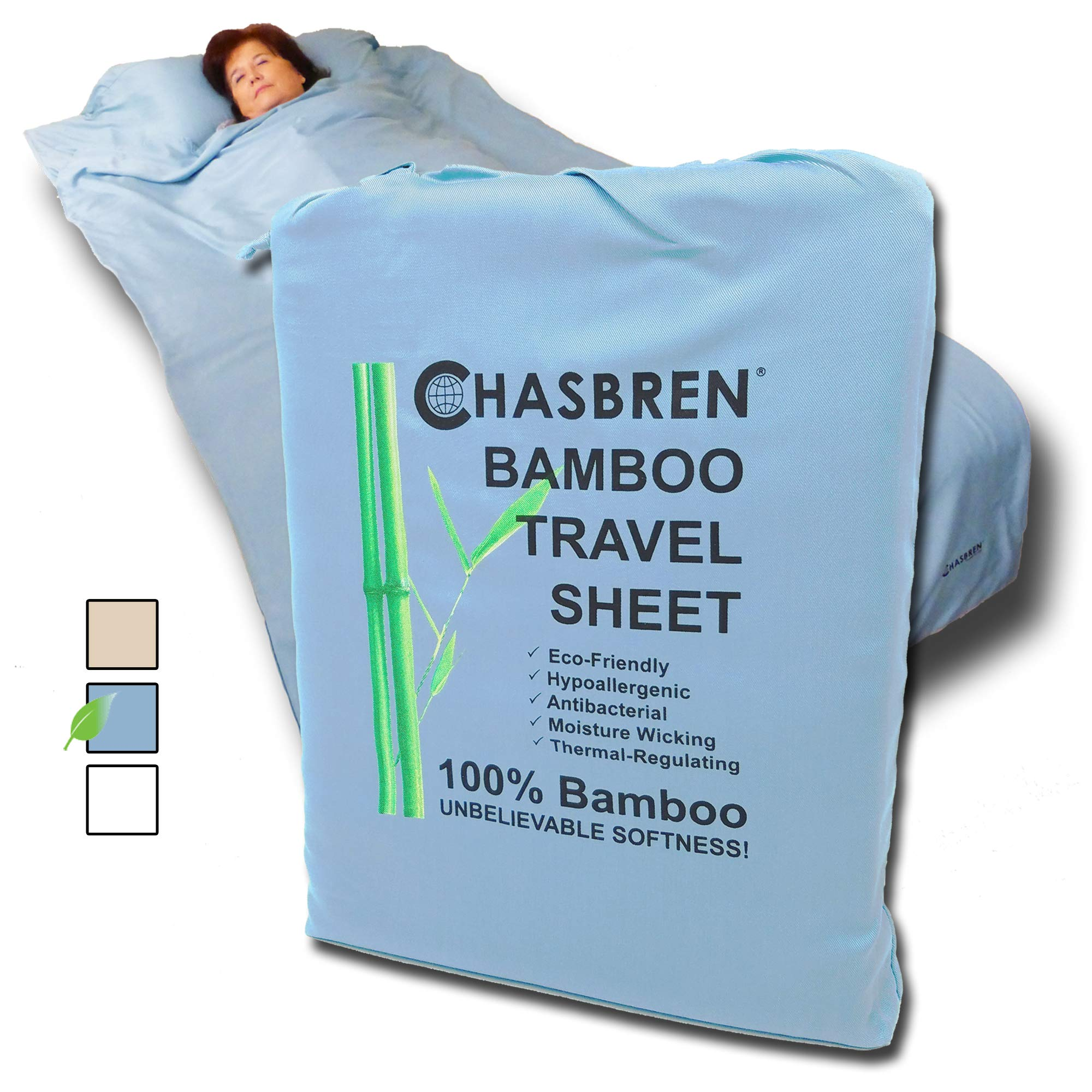 Chasbren Travel Sheet Comfortable Lightweight