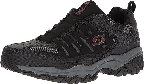 Skechers Sport Hommes's Afterburn M. Fit Fit Fit Wonted Loafer,noir charcoal,8 M US 4c2