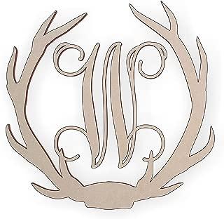 Wooden Deer Antler Monogram Letter W for Wall Decor or Door Hanger, Great for Gifts
