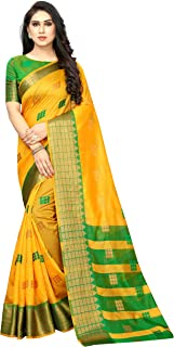 Sataym Weaves women's ethnic wear banarasi cotton silk jacquard saree. (ESHITA)