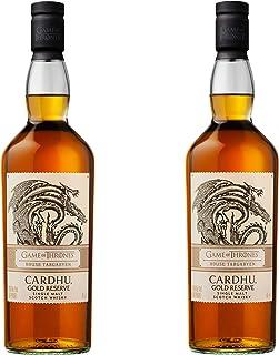 Cardhu Gold Reserve Haus Targaryen Game of Thrones Whisky, 2er Set, Schnaps, Alkohol, Single Malt, 40%, 2 x 700 ml