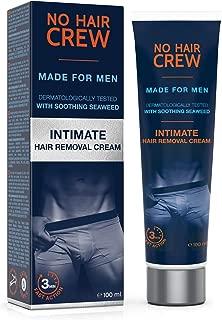 NO HAIR CREW Crema Depilatoria Íntima Premium - Extra Suave Hecha Para Hombres, 100 ml