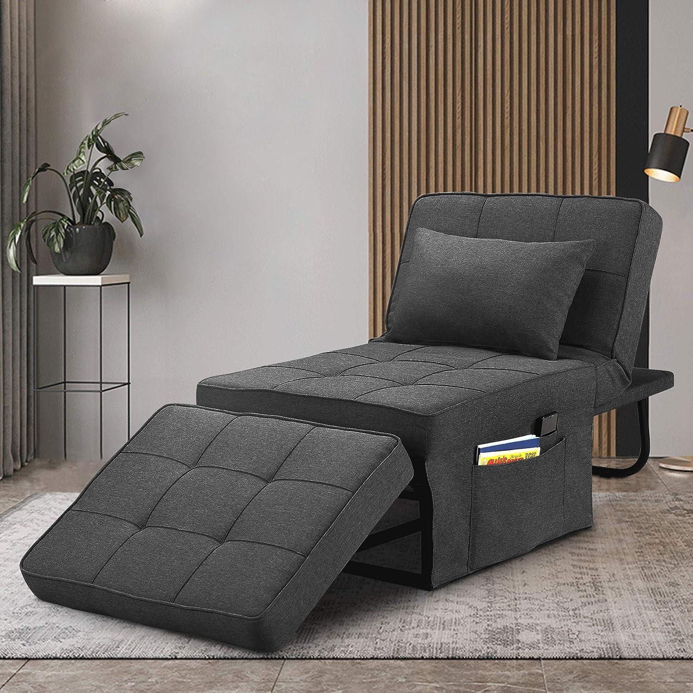 Saemoza Sofa Bed 4 in 1 Single Multi Ottoman Folding Max 86% OFF B Sale Function