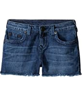 True Religion Kids - Joey Raw Edge Shorts in Shabori (Big Kids)