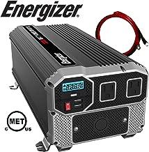 Energizer 3000 Watt 12V Power Inverter, Dual 110V AC Outlets, Automotive Back Up Power Supply Car Inverter, Converts 120 Volt AC with 2 USB Ports 2.4A Each