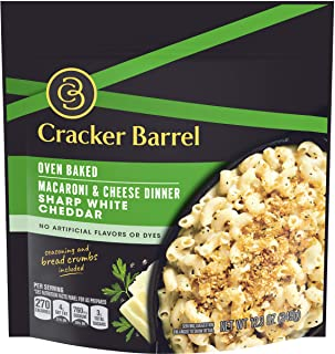 Cracker Barrel Oven Baked Sharp White Cheddar Macaroni and Cheese Dinner (12.3 oz Pouch)