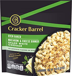 Cracker Barrel Oven Baked Sharp White Cheddar Macaroni and Cheese Dinner, 12.3 oz Pouch