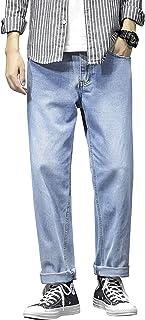 InnoBase ジーンズ メンズ デニム パンツ Gパン ジーパン ズボン ロングパンツ ストレート ストレッチ スキニー ダメージ加工 ウォッシュ加工 美脚 細身 ボトムス 春 秋 カジュアル おしゃれ 刺繍