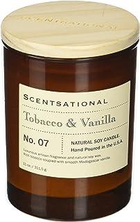 Scentsational Apothecary - Tobacco & Vanilla Candle, Medium, Amber