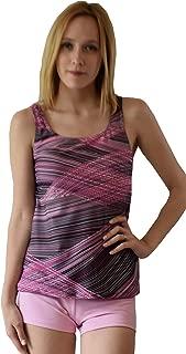 Women Plus Size UPF50+ Tankini Sleeveless Bra Top Swim Rash Guard