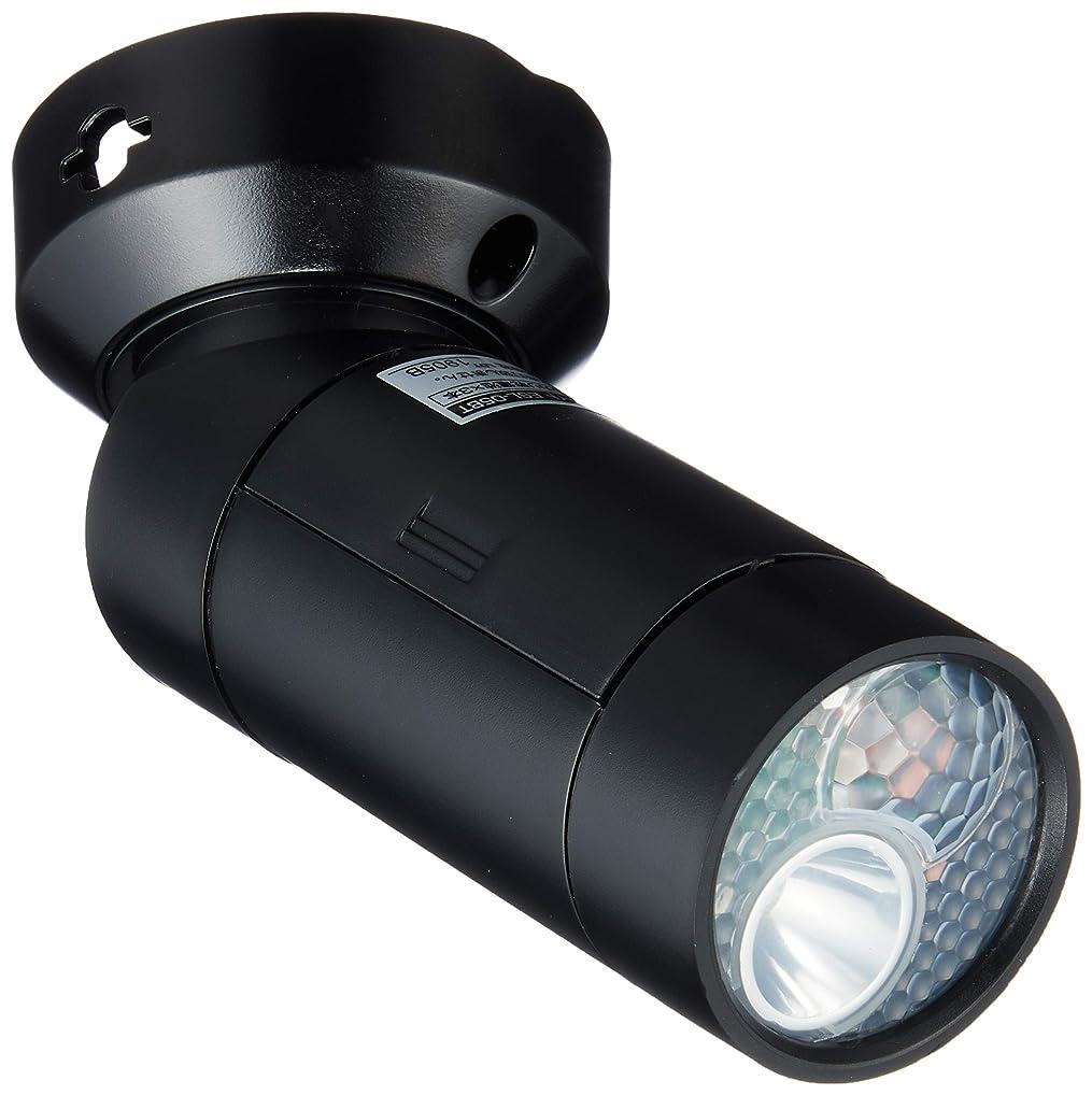 飛ぶ蛾ラバELPA 屋外用LEDセンサーライト 0.5W ESL-05BT(BK)