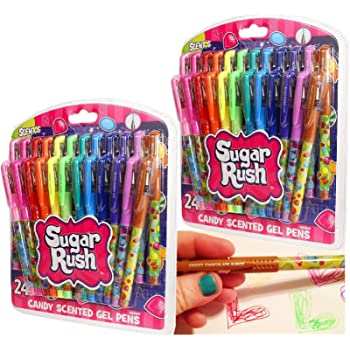 Scentos Sugar Rush Candy Scented Gel Pens 24 Count (Series 2) - 2 Pack (48 Pens Total)
