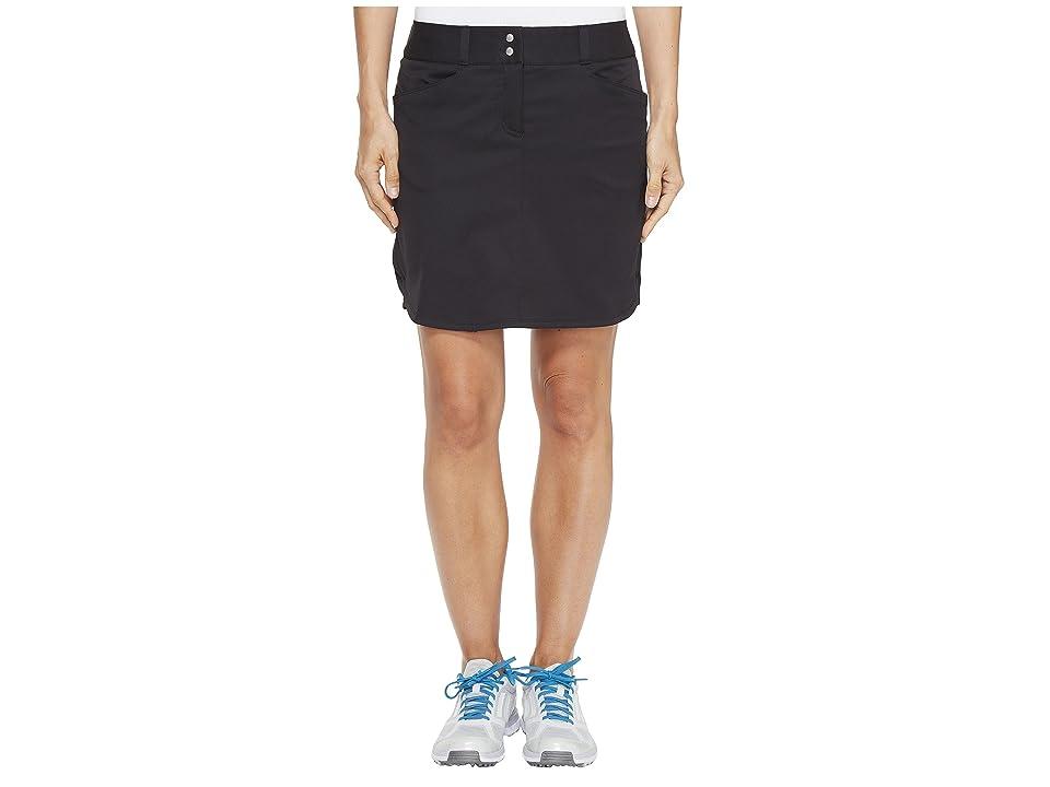 adidas Golf Essentials 3-Stripe Skort (Black) Women