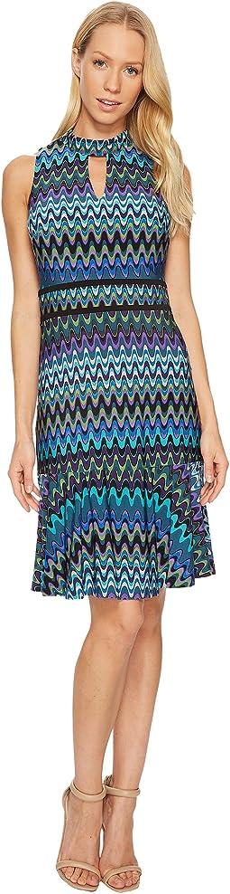 Chevron Halter Jersey Dress