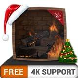 pacchetto camino caldo gratuito HD - goditi le vacanze di Natale rinfrescate in inverno sulla tua TV HDR 4K, TV 8K e dispositivi di fuoco come sfondo, decorazione per le vacanze di Natale, tema per la