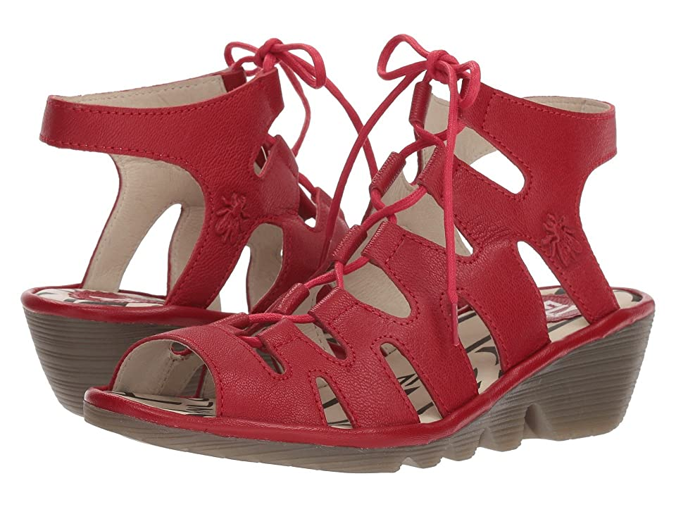 FLY LONDON PORT813FLY (Lipstick Red Mousse) Women
