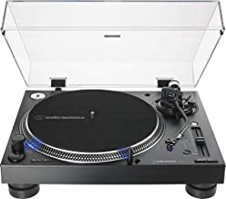 Audio-Technica AT-LP140XP-BK Direct-Drive Professional DJ Turntable, Black, Hi-Fi, Fully Manual, 3 Speed, High Torque Motor