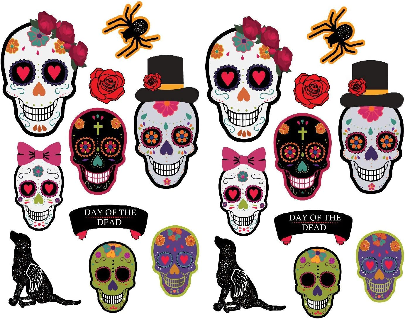 Wakauto 20 Sheets Sugar Skull Day of The Dead Party Napkins Set Napkins Skull Pattern Creative Halloween Disposble Printing Party Supplies Paper Napkins Tissues for Home Bar