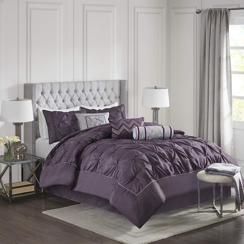 Madison Cheap bargain Park Laurel Comforter Queen Plum Department store Set