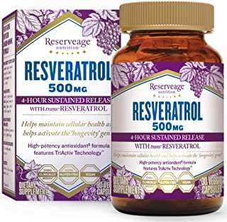 Sponsored Ad - Reserveage, Resveratrol 500 mg, Antioxidant Supplement for Heart and Cellular Health, Supports Healthy Agin...