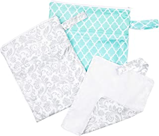 Waterproof Baby Diaper Bag Set: Reusable Wet Dry Laundry Bags for Cloth Diapers
