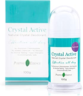 Thai Crystal Deodorant, Crystal Active Lavender, Natural, Long Lasting, Two Ingredients, Safe and Effective, Lavender Scen...