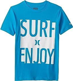 Hurley Kids Surf and Enjoy Tee (Big Kids)