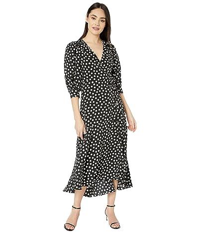 Kate Spade New York Cloud Dot Wrap Dress (Black) Women