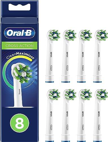 Oral-B CrossAction Cabezales de Recambio Tamaño Buzón, Pack de 8 Recambios Originales con Tecnología CleanMaximiser p...