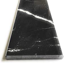 Nero Marquina Marble Door Threshold with 1/4 Bevel 36 inch x 6 inch-Polished