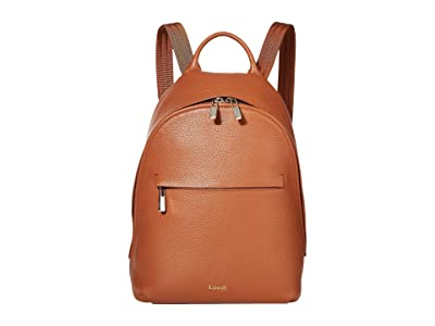 Lipault Paris Invitation Small Round Backpack (Caramel) Backpack Bags