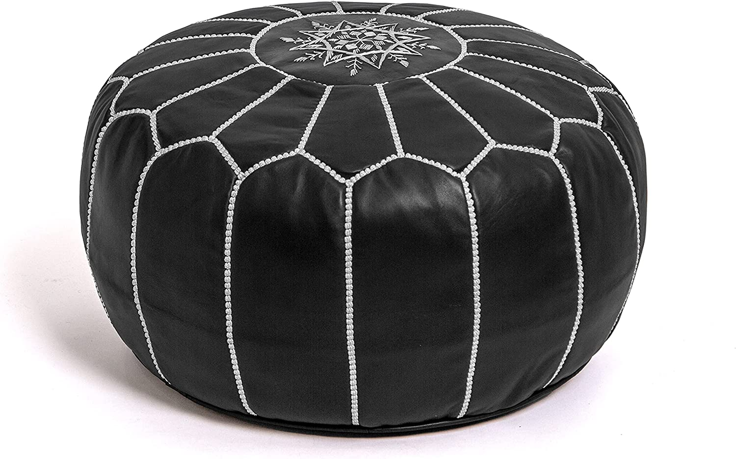 KING OF HANDMADE Premium Moroccan Leather L Round NEW before Cheap SALE Start selling ☆ Cover Pouf -