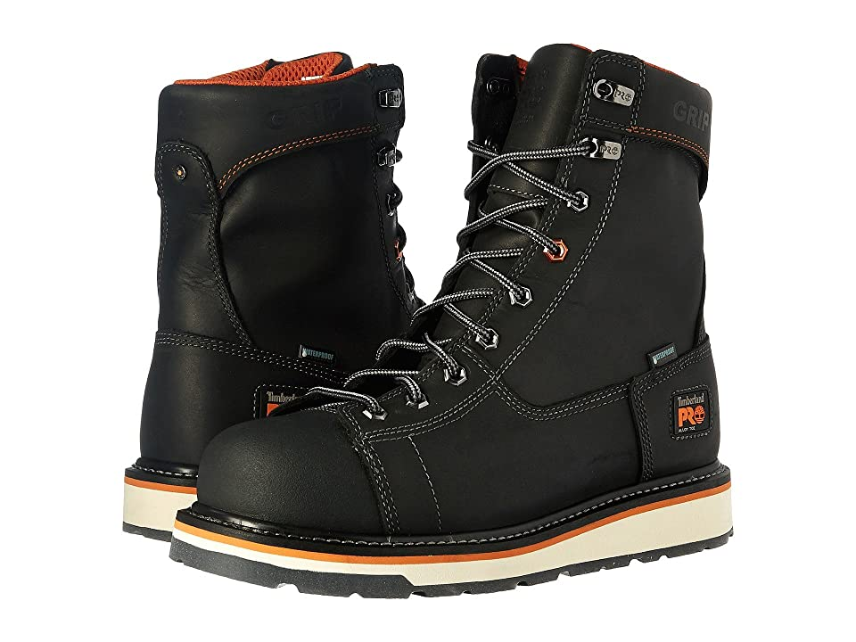 Timberland PRO Gridworks Alloy Safety Toe Waterproof Boot (Black Full Grain Leather) Men