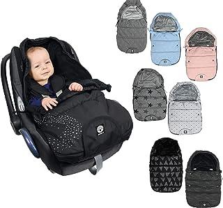 Original DOOKY Fußsack/Footmuff 3 und 5 Punkt Gurt z.B. für Maxi Cosi Babyschale/Autositz, Kinderwagen etc. in 2 Größen (Small (0 9 Monate), Magic Reflect)