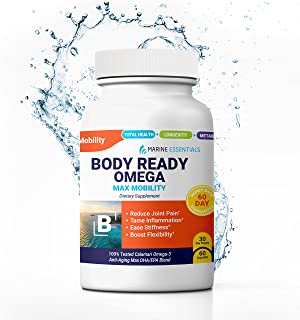 """Marine Essentials Anti Aging Omega 3 Supplements - """"Body Ready Omega"""" 5X DHA Supplements + EPA for Max EPA / DHA Omega 3 H..."""