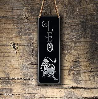 TiuKiu Leo Zodiac Sign Wall Art Sign, Leo Wall Plaque, Leo Hanging Plaque, Leo Star Sign, Leo Star Sign Art, Zodiac Leo, Leo Star Sign Wall Art - 4 x 18 inch