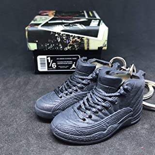 size 40 79874 6621b Pair Air Jordan XII 12 Retro PSNY Public School Dark Grey OG Sneakers Shoes  3D Keychain