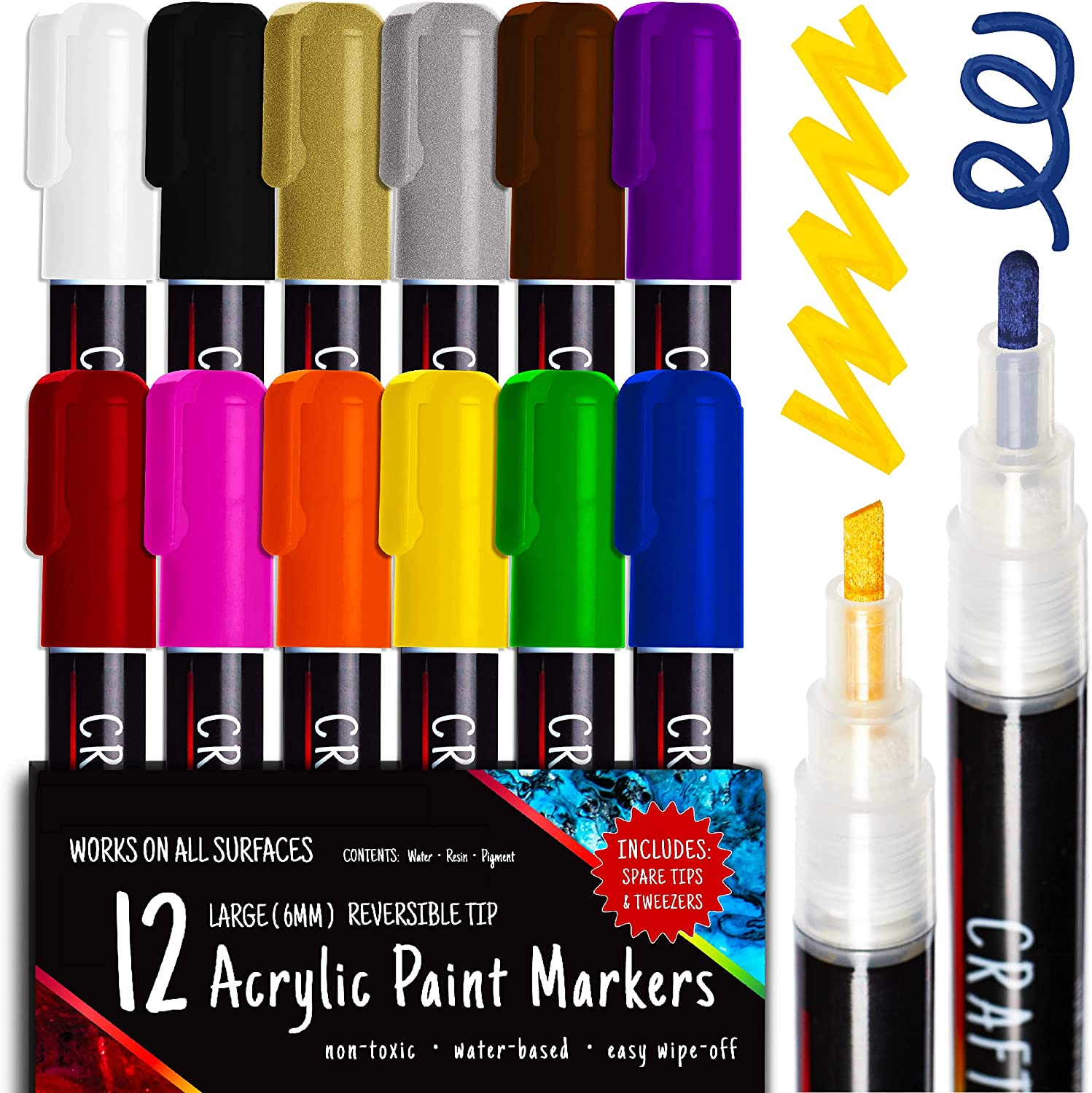 Crafts 4 ALL Acrylic Max 65% OFF Paint Pens For Markers Ranking TOP16 Sto Painting - Rock