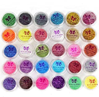 Neverland Beauty 30pcs Mixed Colors Powder Pigment Glitter Mineral Spangle Eyeshadow Makeup Cosmetic Set Long-lasting Rand...