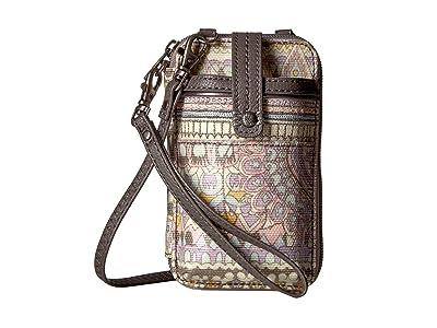 Sakroots Artist Circle Smartphone Wristlet (Pastel One World) Wristlet Handbags
