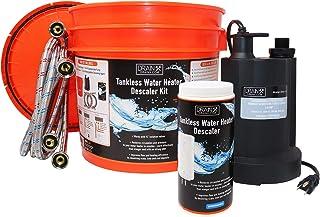 DrainX Tankless Water Heater Descaler Kit with DrainX Biodegradable Descaler